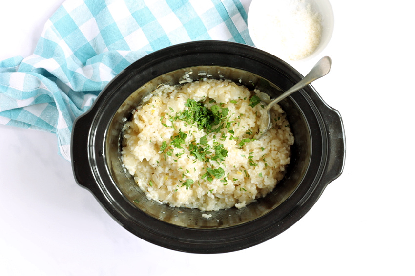 Slow Cooker Risotto with Clotted Cream
