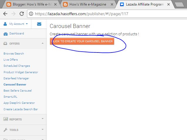 Hows wife e magazine guide on how to add a lazada carousel banner 2 once it appears just key in the country and the category you are advertising in banner layout section you can choose the type of banner that you want ccuart Images