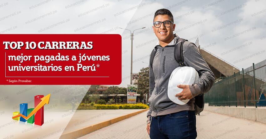 PRONABEC: Top diez carreras mejor pagadas a jóvenes universitarios en Perú
