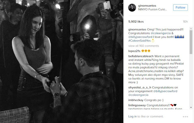 Just In: Coleen Garcia And Billy Crawford Decides To Tie The Knot!