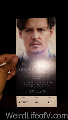 My ticket for the Transcendence premiere