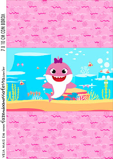 Baby Shark: Free Printable Candy Buffet Labels.