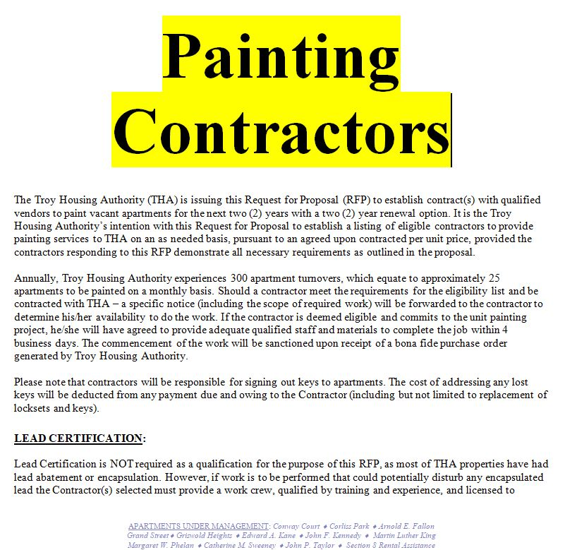 example of a painting contract doc and pdf free sample