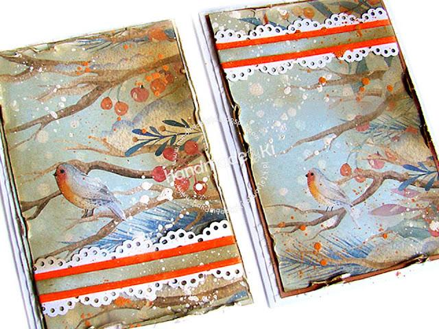 Zimowe karteczki z ptaszkami