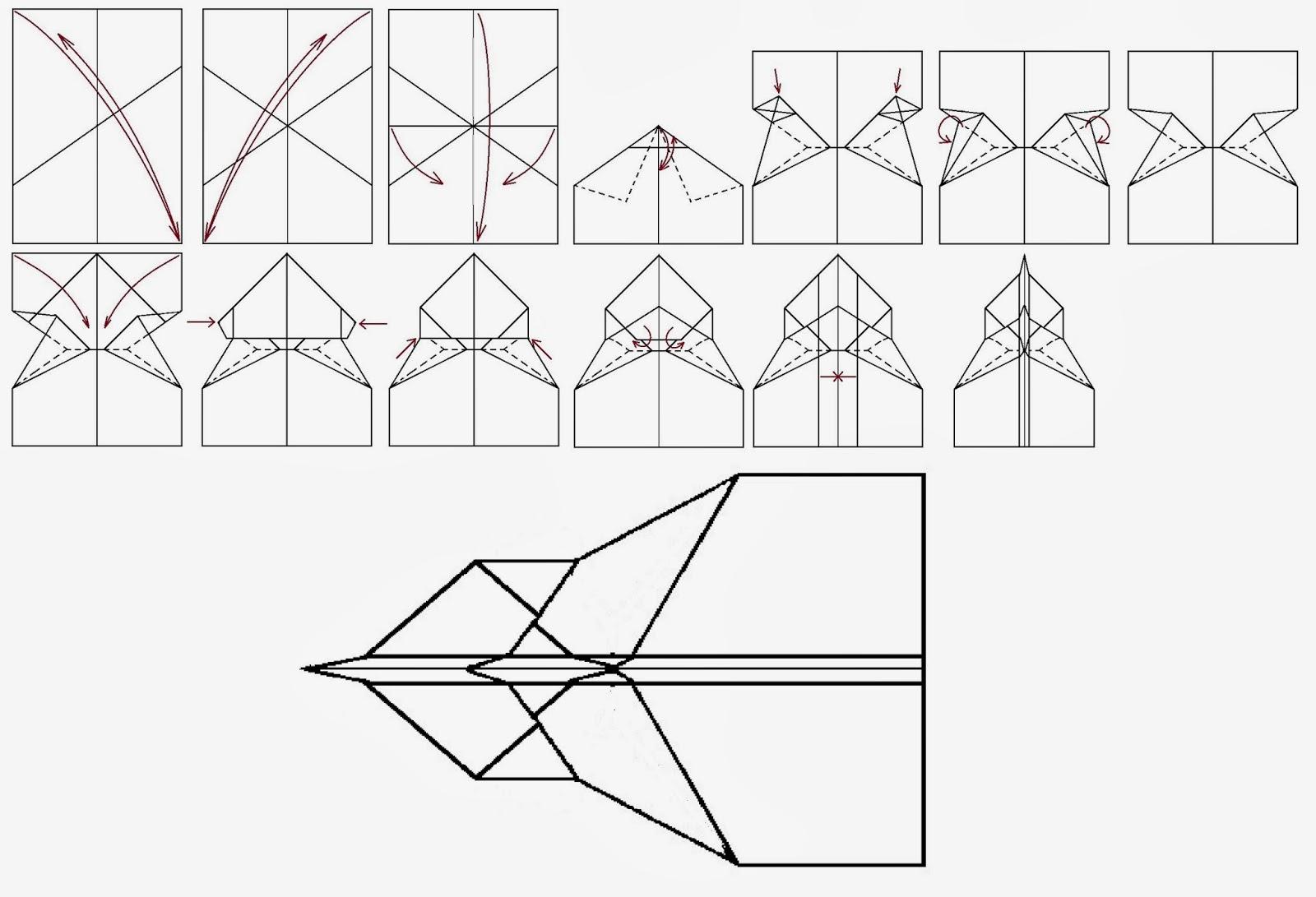 Avión de papel Wing 55