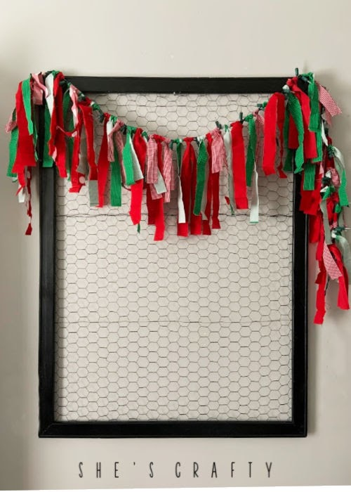 How to make a Fabric Christmas Garland