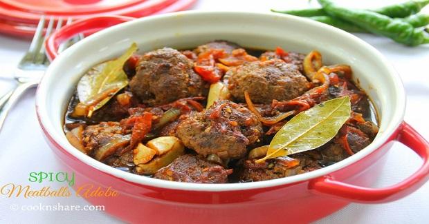 Spicy Meatballs Adobo Recipe