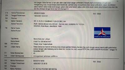 Kubu KLB Tebar Bukti SBY Daftarkan Merek Partai Demokrat Atas Nama Pribadi