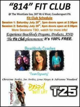 "7-20  ""814"" FIT CLUB--2 Sessions"