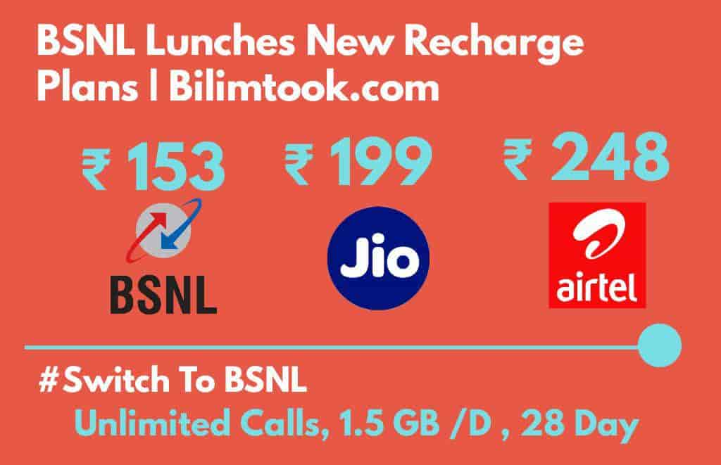 BSNL Lunches New Recharge Plans  Switch To BSNL