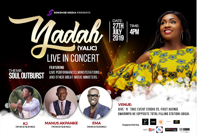 "EVENT: Yadah Sets for her Live Recording Concert tagged ""Soul Outburst"" 