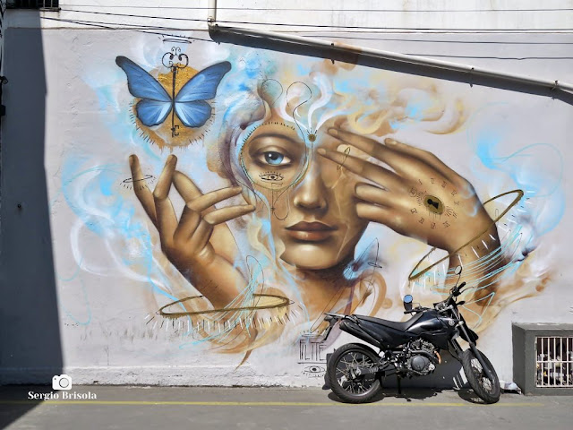 Close-up de um dos Grafites na Vila das Cores - Vila Mariana - São Paulo
