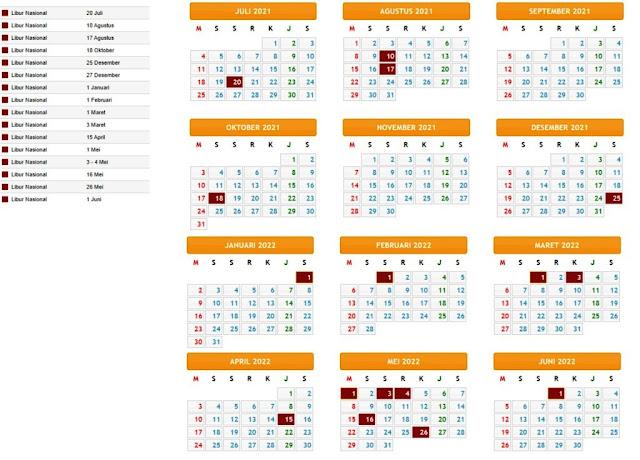 Terbaru Kalender Pendidikan Tahun Pelajaran 2021/2022 Provinsi Jakarta
