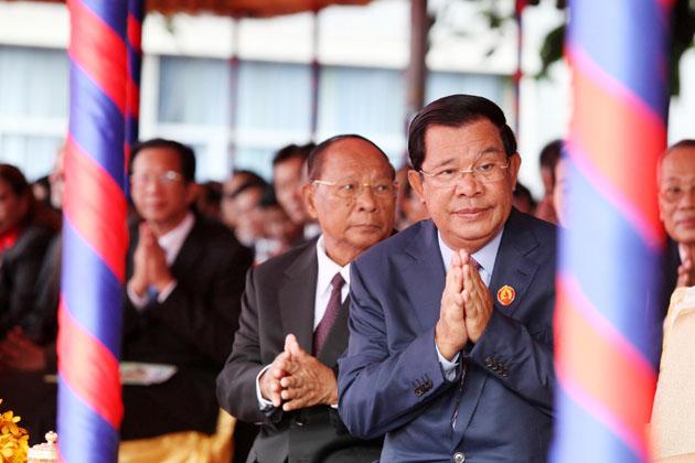 Samdech Héng Samrin, président de l'Assemblée nationale et président d'honneur du PPC, et Samdech  Techo Hun Sèn, Premier ministre et président du PPC, présidaient cette célébration annuelle