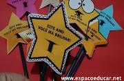 Lembrancinha de volta às aulas lápis com estrela: Este ano você vai brilhar! - Baixe o PDF com os moldes