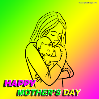mother holding a baby happy mothers day greetings