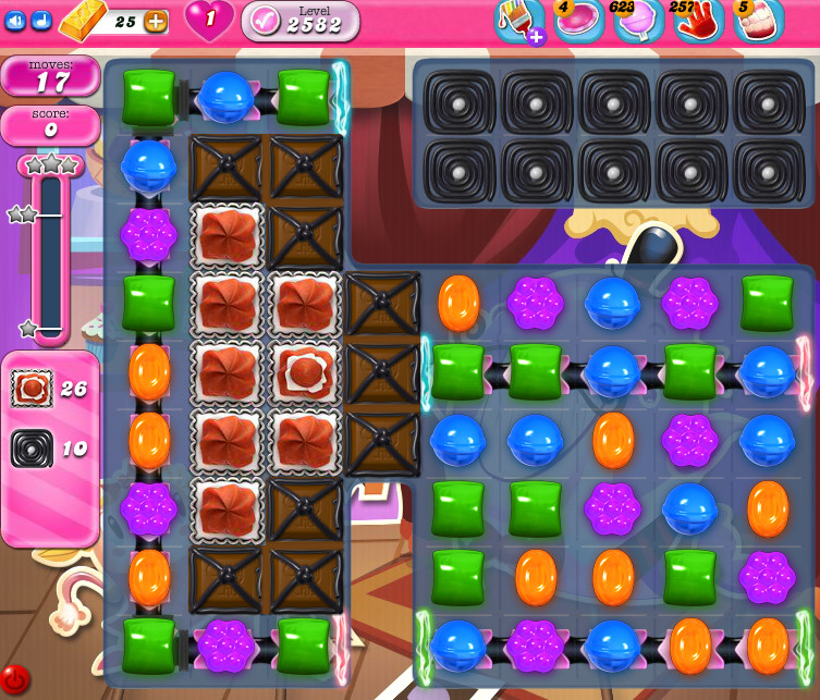 Candy Crush Saga level 2582