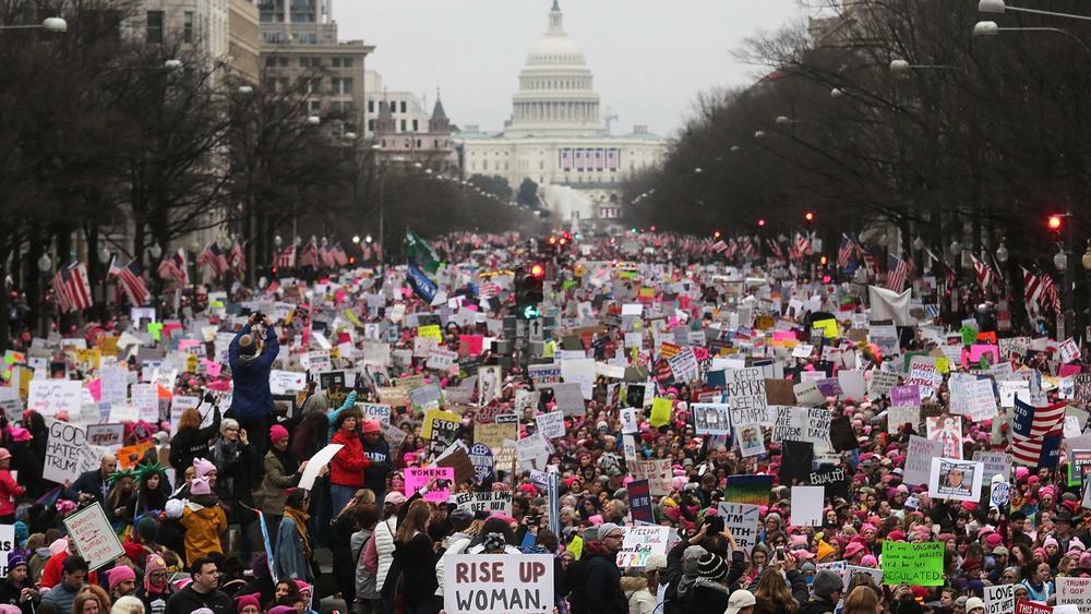 Resultado de imagem para marcha das mulheres usa