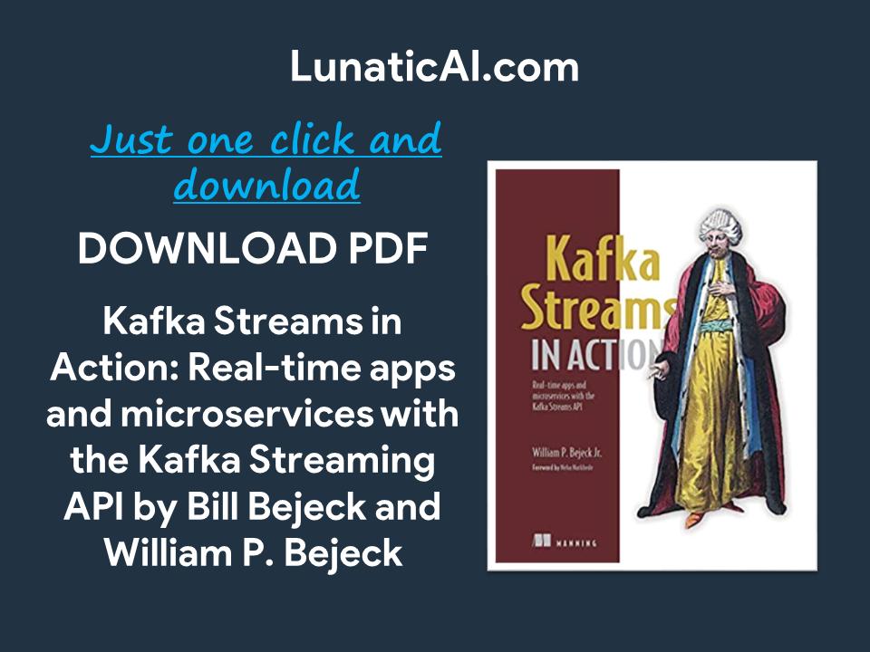 kafka streams in action pdf