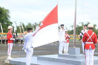Upacara HUT ke-76 RI Kabupaten Simalungun Berlangsung Khidmat, 100 ASN Tenerima Tanda Kehormatan Satya Lencana Karya