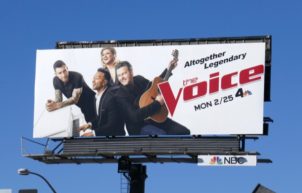 Voice season 16 John Legend billboard