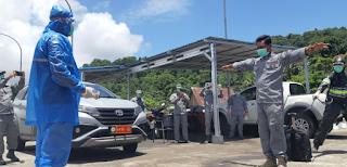 Simulasi Karantina ABK Kapal Bakamla RI Kamla Zona Maritim Tengah