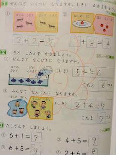 日本の小学校1年生の算数 - 戦わない子育て -