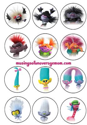 Trolls World Tour free printables