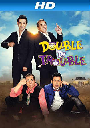 Double Di Trouble 2014 HDRip 800MB Punjabi Movie 720p Watch Online Full Movie Download bolly4u