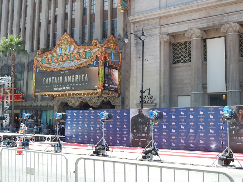 Captain America World Premiere set-up