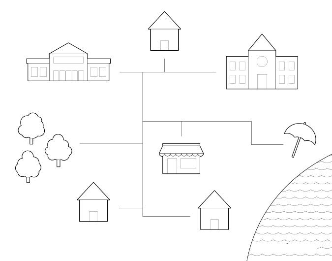 Contoh gambar peta kota