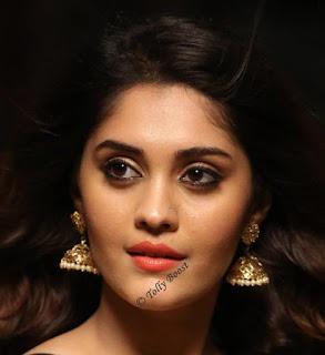Tollywood Actress Surbhi Beautiful Earring Face Closeup Pictures (3)