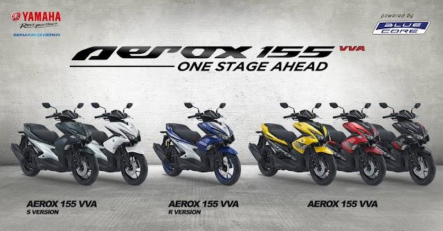 Spesifikasi dan harga Yamaha aerox 2019
