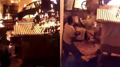 Kebakaran di Barebbo Bone, 3 Armada Damkar Dikerahkan