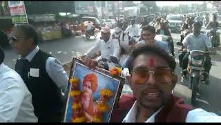 काँग्रेस सेवादल द्वारा स्वामी विवेकानंद जी की जयंती पर निकाली गयी मोटर सायकिल रैली