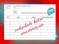 Contoh SK Panitia dan Berita Acara Penerimaan Peserta Didik Baru ( PPDB )
