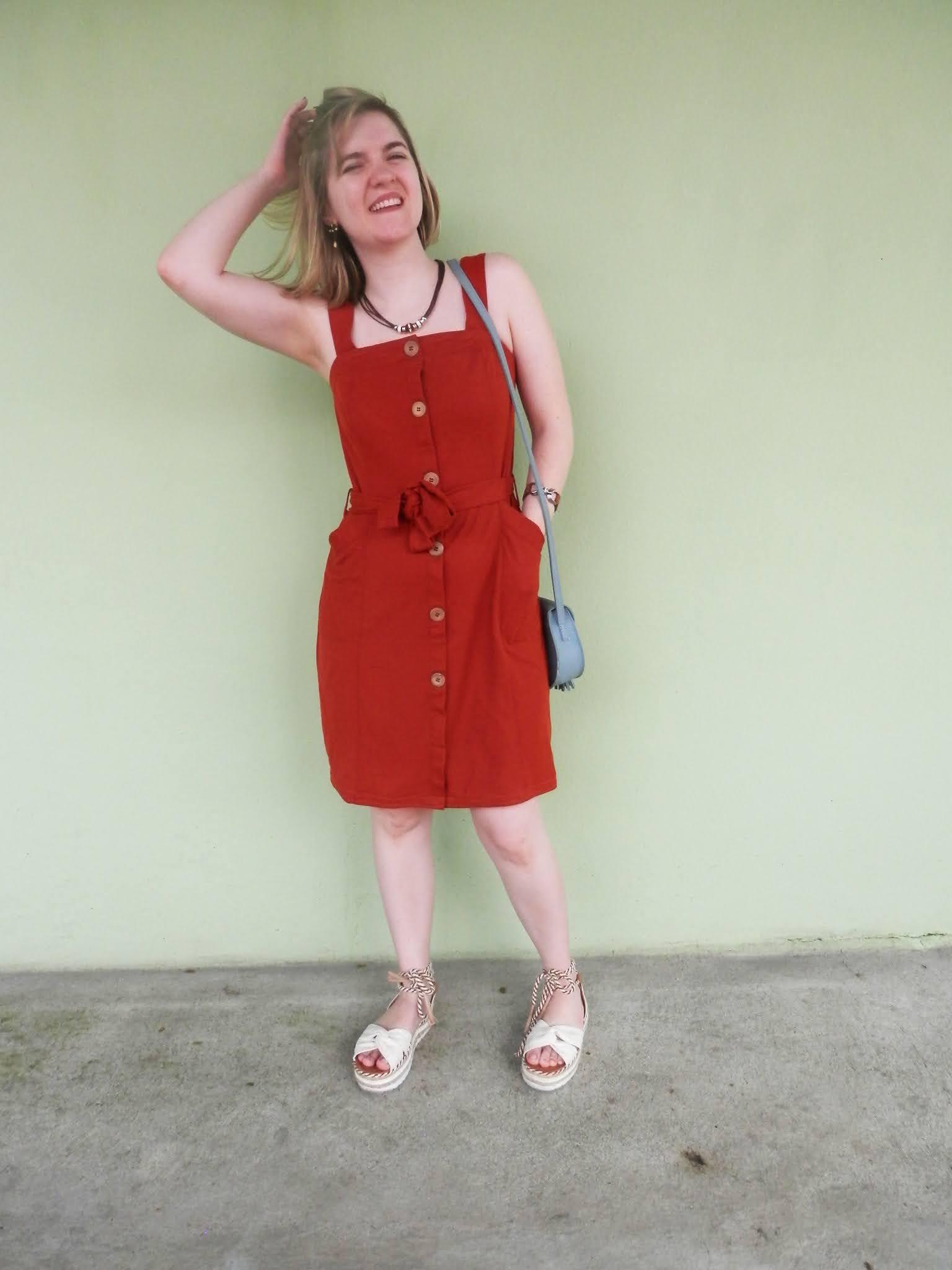 look vestido com flatform