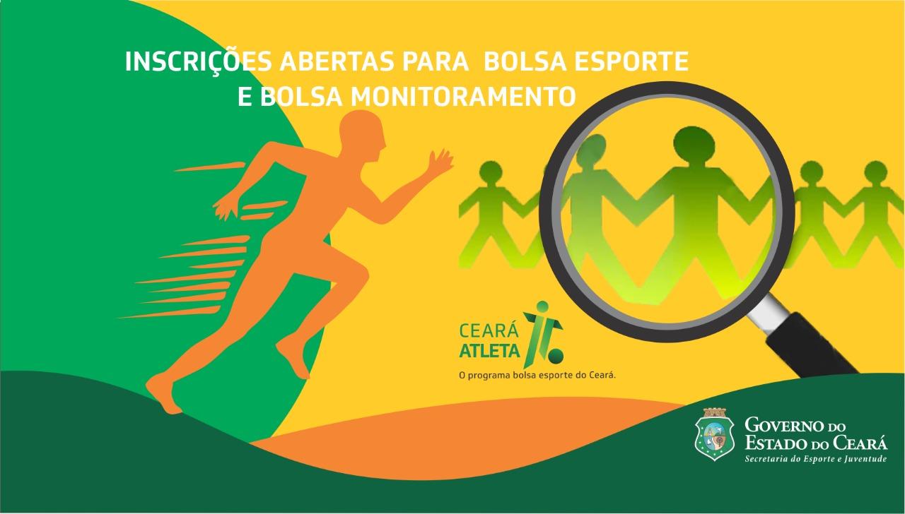 Sejuv abre inscrições para 4.020 bolsas do Programa Ceará Atleta – Bolsa Esporte e Bolsa Monitoramento
