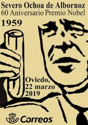 Filatelia, matasellos, correos, Severo Ochoa