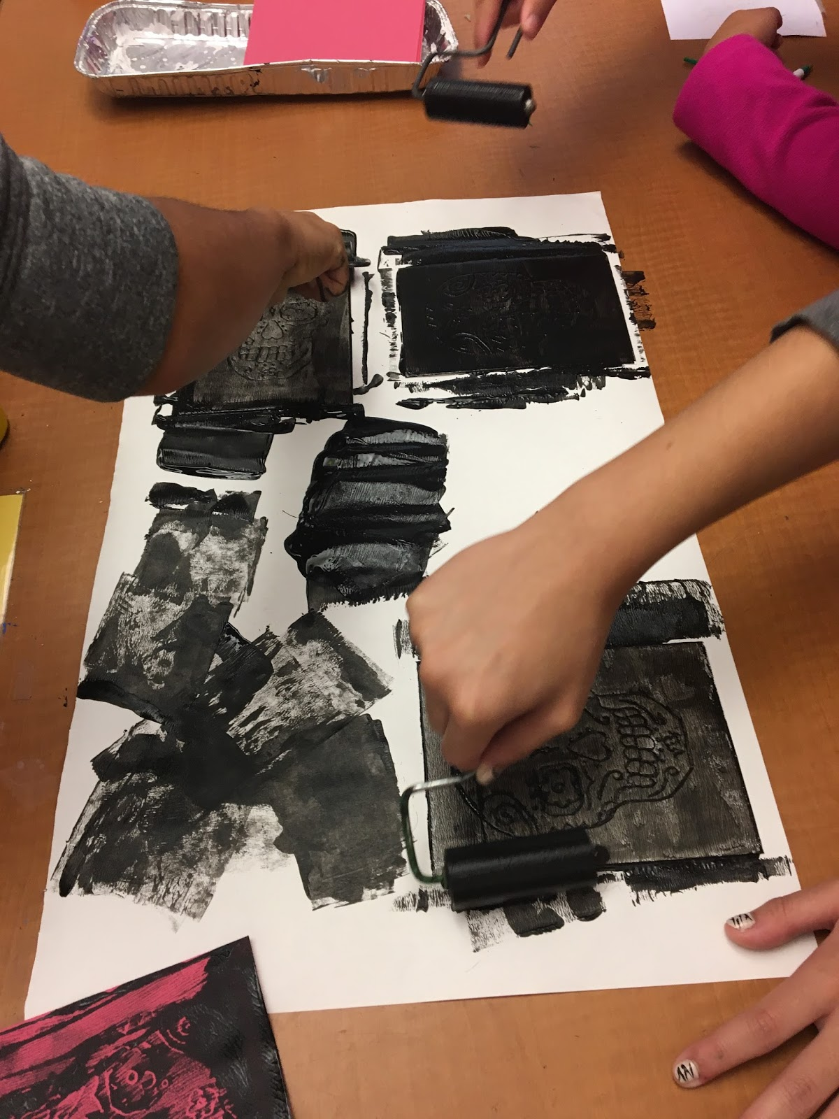 Expressions Curriculum 7th Grade Printmaking