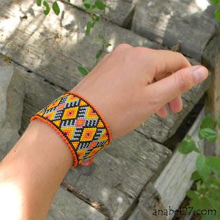 украшения от Anabel - яркие этнические браслеты с авторскими орнаментами