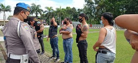 Gaktiplin Yang dipimpin Langsung Oleh Kapolres Minut Berhasil Temukan 6 Anggotanya Yang Memiliki Rajah Dibadan (Tatto)