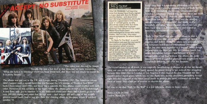 ACCEPT - Balls To The Wall / Staying A Life [Expanded / Remastered] booklet