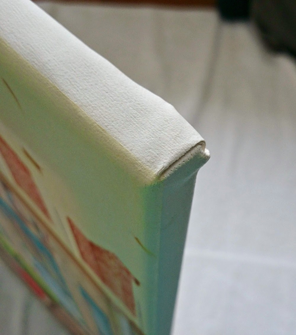 Create neat corners when stretching canvas