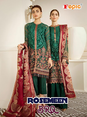 Fepic Rosemeen Brq Pakistani Suits Collection In Wholesale Rate  With open Pics