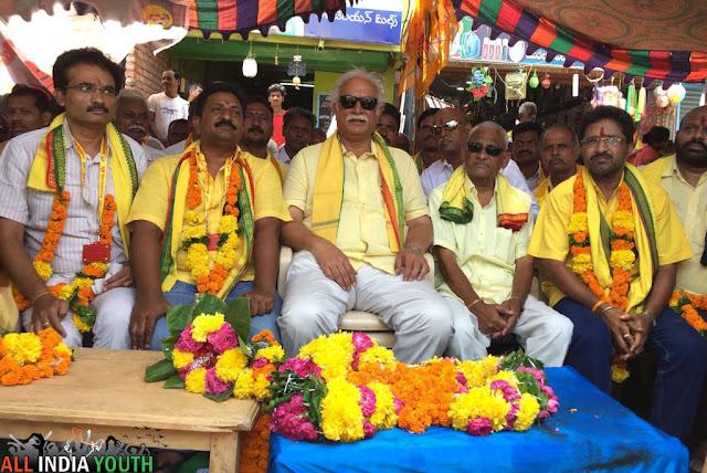 Pusapati Ashok Gajapathi Raju in Dharna