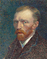 Vincent van Gogh's Self-Portrait in March 1887-June 1887, post-impressionist painting