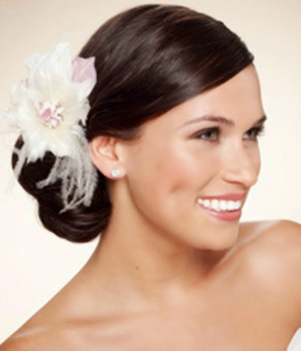 Side Wedding Hairstyles: Wedding Hairstyles Up With Flowers