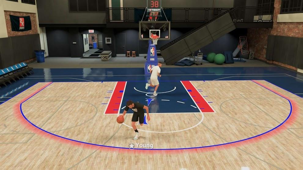 NBA 2K21 Default Practice Gym as Blacktop Court by dbphotoinc