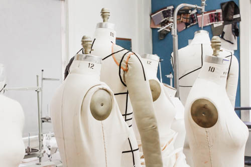 fashion designer dress forms at UT Austin